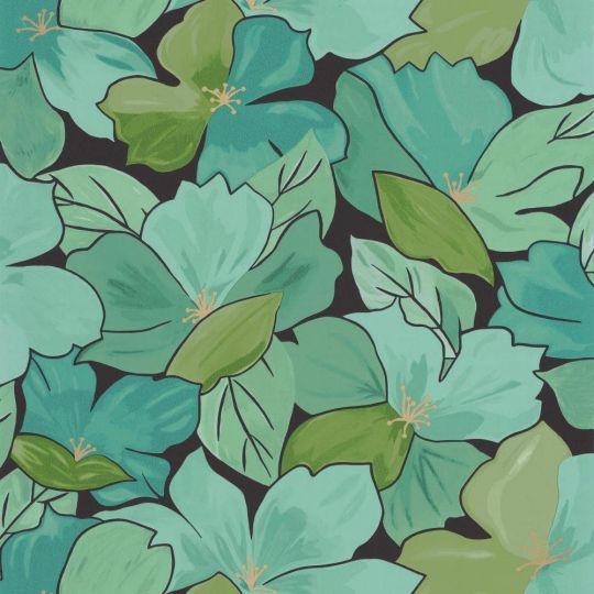 Шпалери Caselio Flower Power FLP101887124 цвітіння зелене
