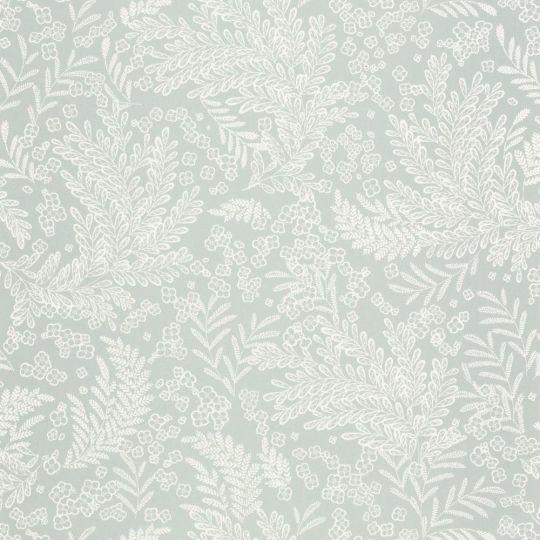 Шпалери Caselio Flower Power FLP101897077 листочки і квіточки сірі