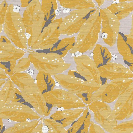 Обои Casadeco Five o'clock FOCL85792461 растительность желтая