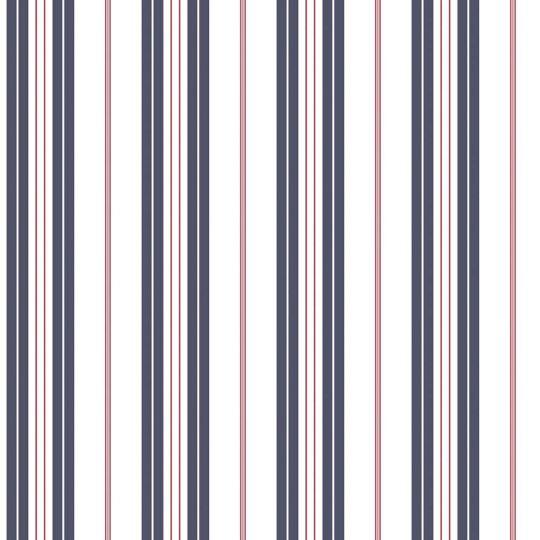 Обои Galerie Deauville 2 G23061 полосочка бело-синяя с красным