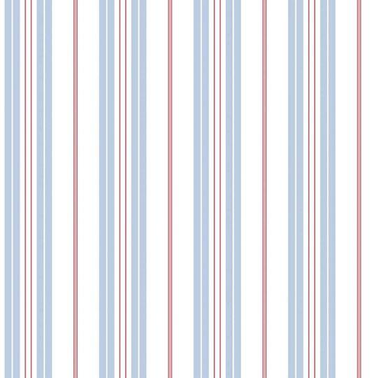 Обои Galerie Deauville 2 G23065 полосочка бело-голубая с красным