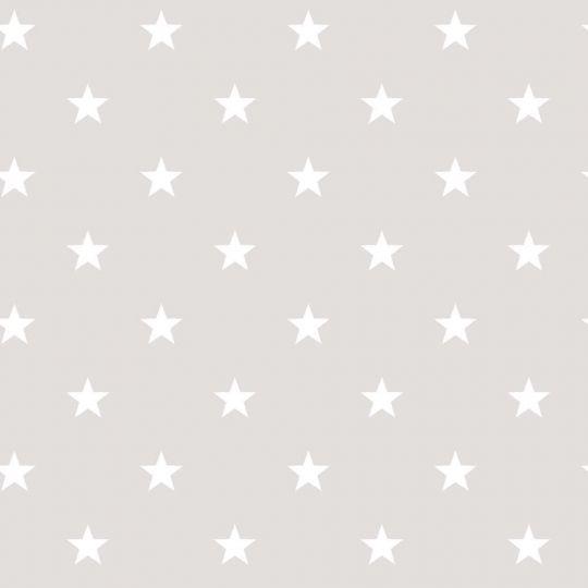 Шпалери Galerie Deauville 2 G23109 білі зірочки на світло-сірому