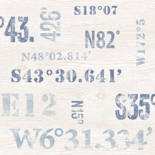 Обои Galerie Deauville 2 G23331 широта-долгота сине-голубая