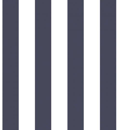 Обои Galerie Deauville 2 G23340 в полоску темно-сине-белые