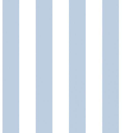 Обои Galerie Deauville 2 G23341 в полоску бело-голубые