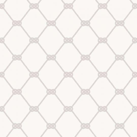 Обои Galerie Deauville 2 G23344 серый морской узел на белом