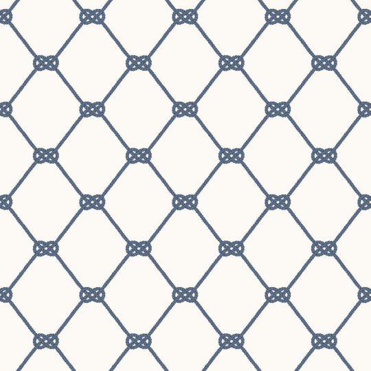 Обои Galerie Deauville 2 G23345 синиц морской узел на белом