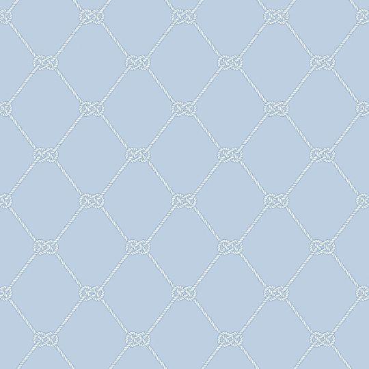 Обои Galerie Deauville 2 G23348 морской узел на голубом фоне