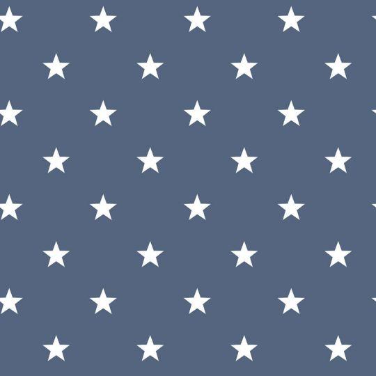 Шпалери Galerie Deauville 2 G23350 білі зірочки на синьому тлі