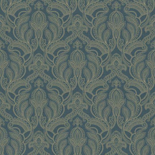 Шпалери Galerie Vintage Damasks G34142 східний огірок синій