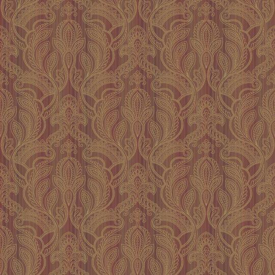 Шпалери Galerie Vintage Damasks G34146 східний огірок червоно-помаранчеві