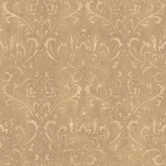 Обои Galerie Steampunk G45172 дамаск коричнево-золотой