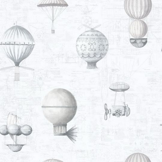Обои Galerie Steampunk G56202 воздушный шар белый