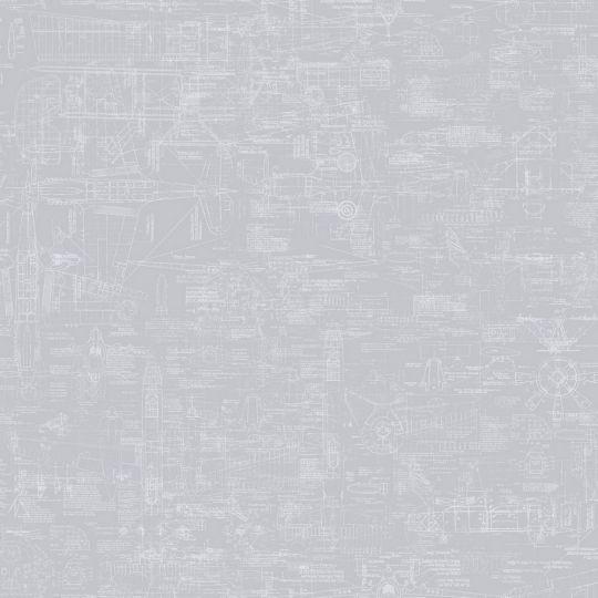 Шпалери Galerie Steampunk G56209 креслення сірі