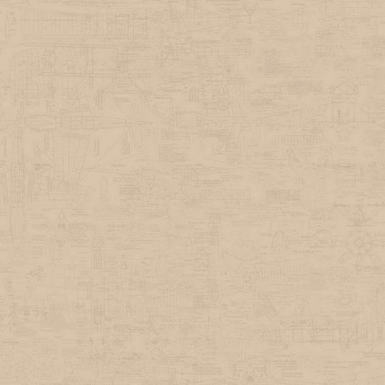 Шпалери Galerie Steampunk G56210 креслення темно-бежеві