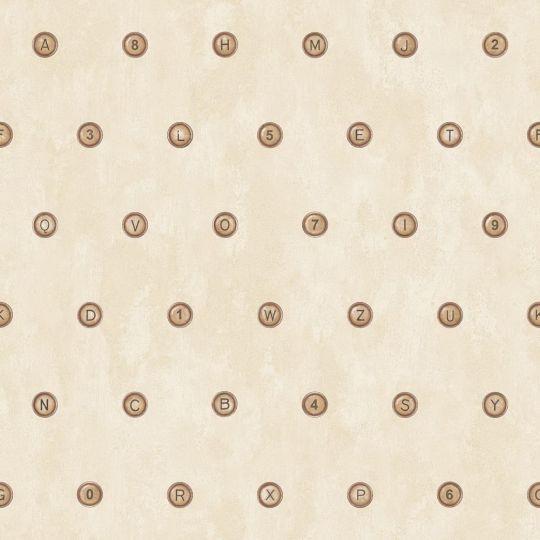 Шпалери Galerie Steampunk G56232 клавіші бежеві