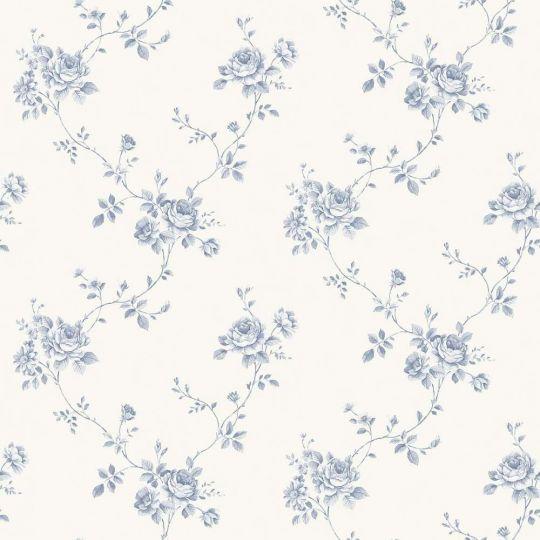 Шпалери Galerie Palazzo G67630 трояндочки сині на білому