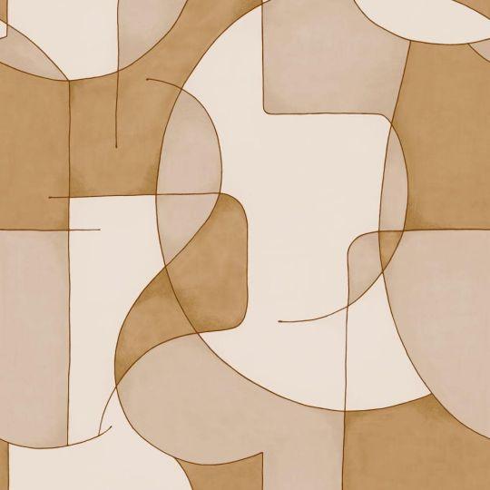 Шпалери Casadeco Gallery GLRY86091302 оптичний арт жовто-білий