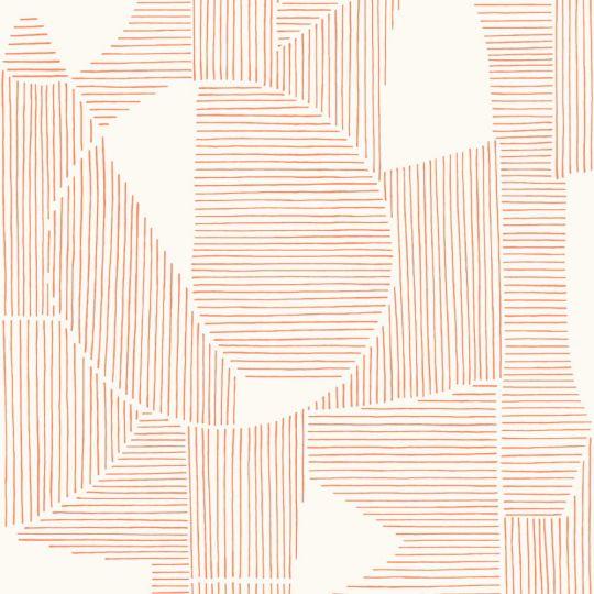 Шпалери Casadeco Gallery GLRY86124114 абстрактна графіка червоно-біла