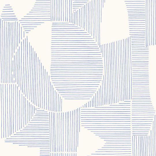 Шпалери Casadeco Gallery GLRY86126320 абстрактна графіка синьо-біла