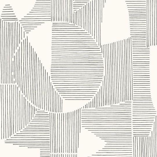 Шпалери Casadeco Gallery GLRY86129127 абстрактна графіка чорно-біла