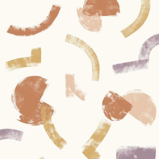 Шпалери Casadeco Gallery GLRY86135124 мазки яскраві на білому тлі