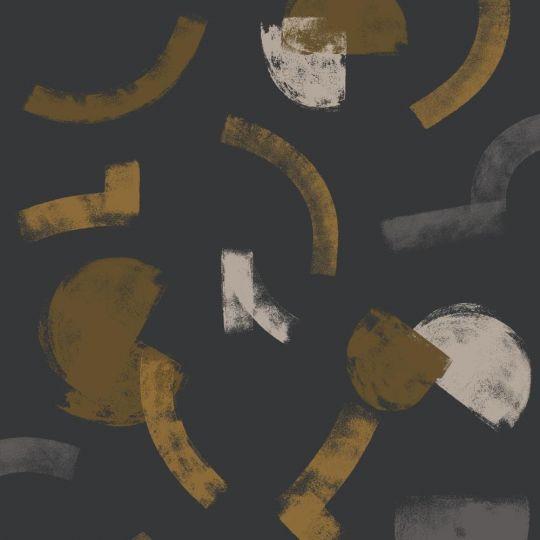 Шпалери Casadeco Gallery GLRY86139725 мазки на чорному тлі