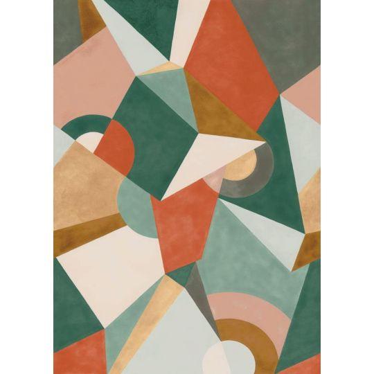 Панно Casadeco Gallery GLRY87037410 кубізм різнокольоровий