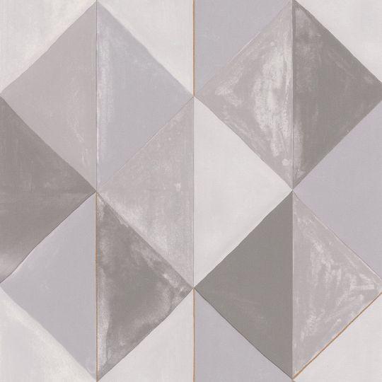 Шпалери Caselio Green Life GNL101709020 сірі трикутники
