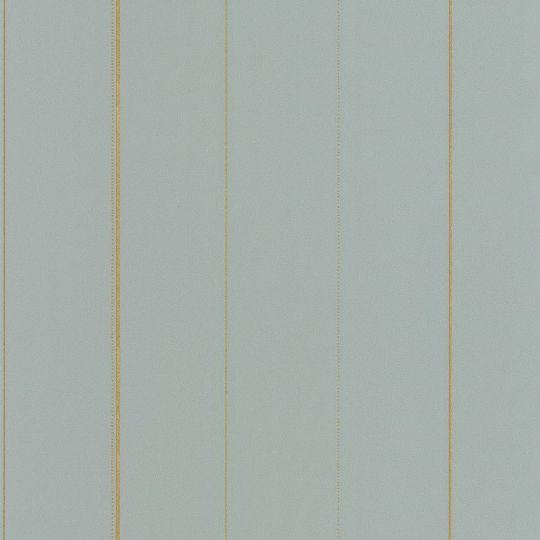Шпалери Caselio Green Life GNL101726027 в золоту смужку блакитні