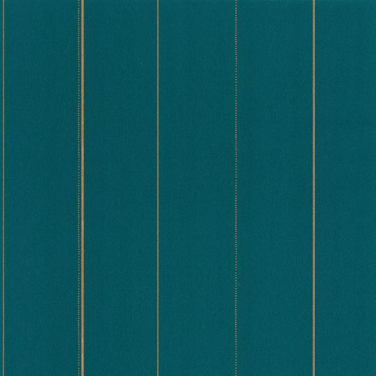 Шпалери Caselio Green Life GNL101726122 в золоту смужку на синьому