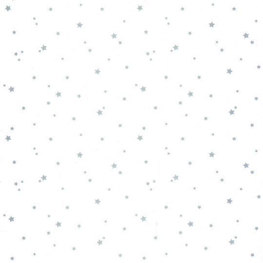 Обои Caselio Girl Power GPR100809909 звездочки серебряные на белом
