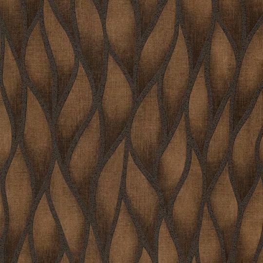 Шпалери Grandeco Gravity GT3103 абстрактні бронзові з блискітками