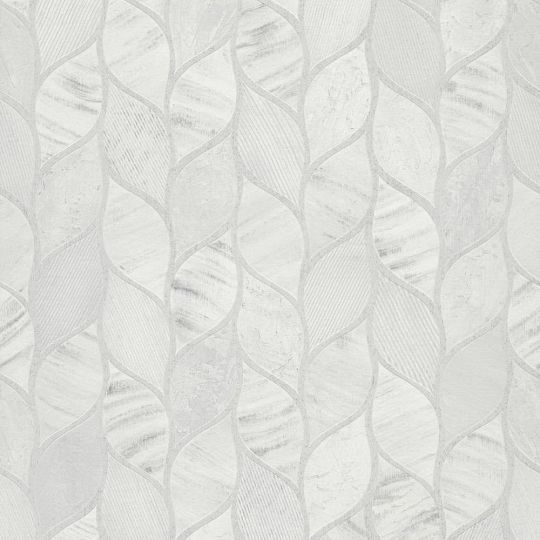 Шпалери Grandeco Gravity GT3202 косичка сіро-біла
