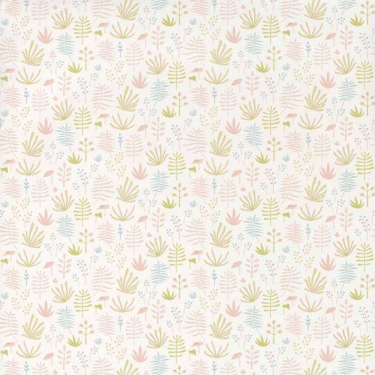 Обои Casadeco Happy Dreams HPDM82734107 веточки розово-салатовые