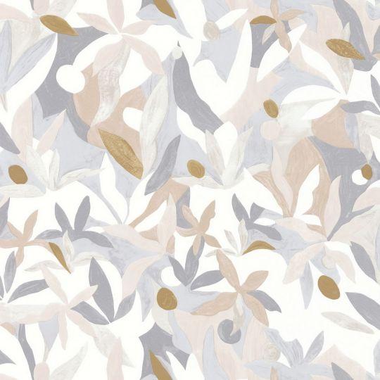 Обои Caselio Imagination IMG102161021 цветущий сад серо-бежевый