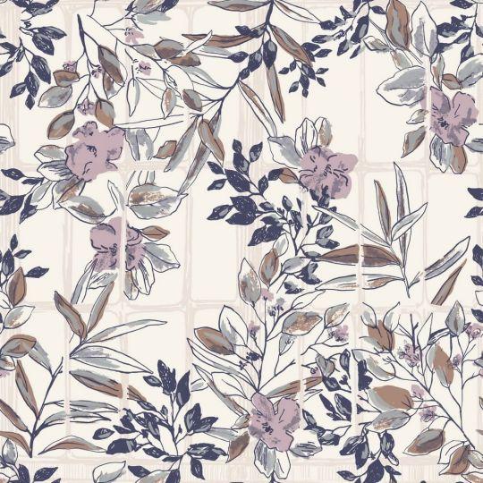 Обои Casadeco Jardins suspendus JDSP85235174 цветущие ветви прованс синие