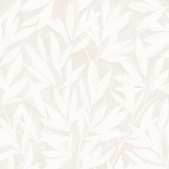 Обои Casadeco Jardins suspendus JDSP85241011 нарисованные веточки бело-бежевые