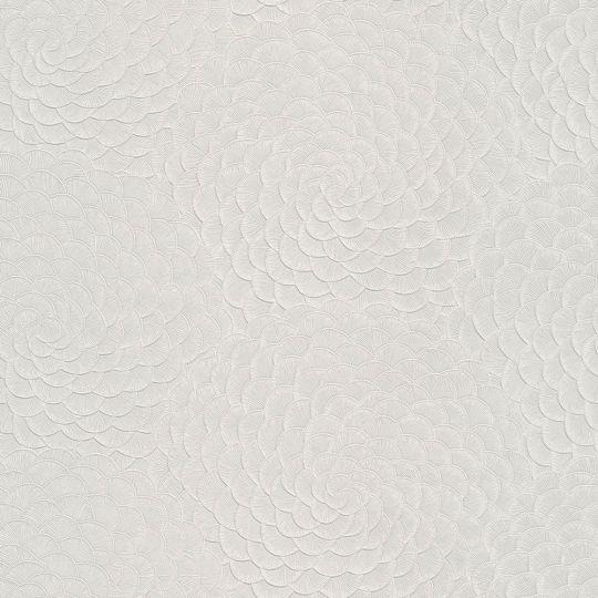 Шпалери Grandeco Karin Sajo KS3102 пелюстки біло-сірі