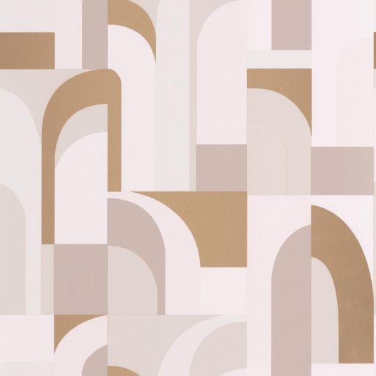 Шпалери Caselio Labyrinth LBY102081029 арки біле золото