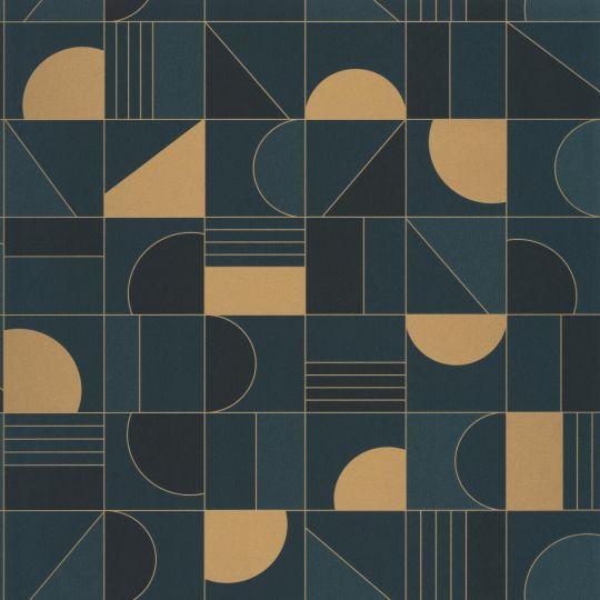 Шпалери Caselio Labyrinth LBY102106055 геометрія синя