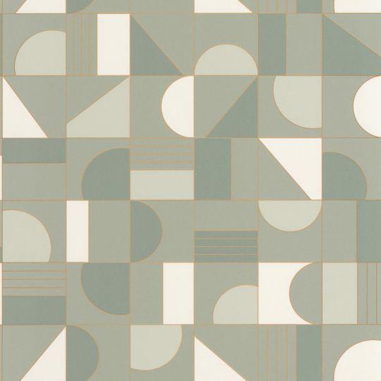Шпалери Caselio Labyrinth LBY102107024 геометрія оливка