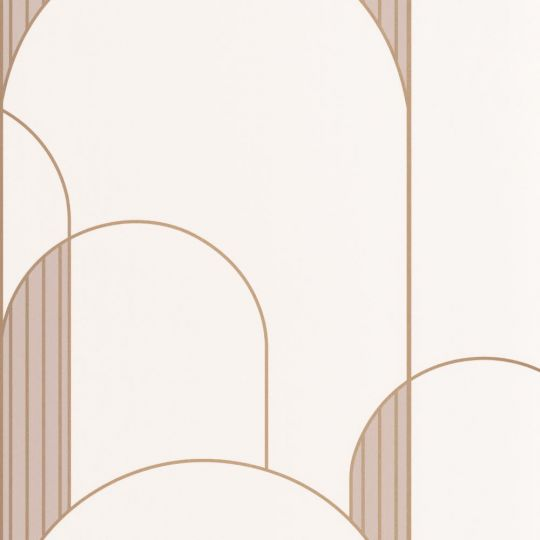 Шпалери Caselio Labyrinth LBY102111029 арки арт деко біле золото