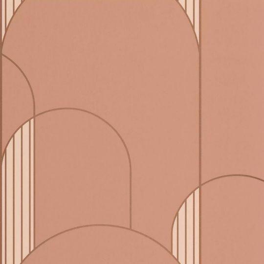 Шпалери Caselio Labyrinth LBY102114044 арки арт деко персикові