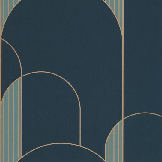 Шпалери Caselio Labyrinth LBY102116027 арки арт деко сині