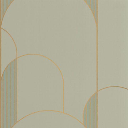 Шпалери Caselio Labyrinth LBY102117020 арки арт деко оливкові