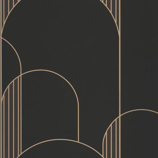 Шпалери Caselio Labyrinth LBY102119022 арки арт деко чорні