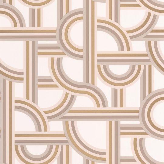 Шпалери Caselio Labyrinth LBY102121020 лабіринт біле золото