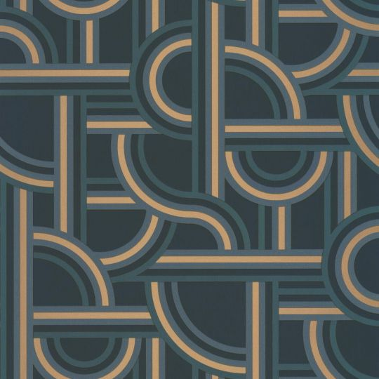 Шпалери Caselio Labyrinth LBY102126021 лабіринт синій