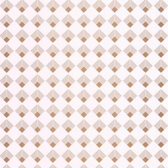 Шпалери Caselio Labyrinth LBY102131026 ромбики біле золото
